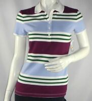 Tommy Hilfiger Womens Short-Sleeve Striped Polo size Small