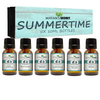 Premium Grade Fragrance Oil-Summer Time- Gift Set 6/10ml for Diffuser, Body oil,