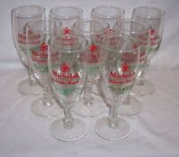 "9  ANHEUSER BUSCH 7 3/8 "" TALL MICHELOB BREWING PILSNER GLASSES BEER BAR PUB"