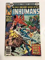 The Inhumans #6 Marvel Vintage Black Bolt Rare