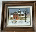 H. Hargrove Painting Signed House and Carriage