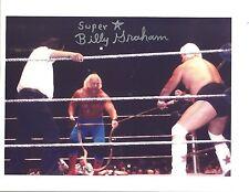 Bgp044 Superstar Billy Graham signed 8x10 /Coa bullrope vs Dusty