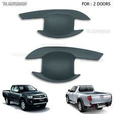 For Mitsubishi Triton L200 2005-2014 2 Door Matte Black Handle Bowl Insert Cover