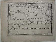 Galliae Belgicae orig. cuivre clés CARTE MERCATOR 1650 France Belgique antique