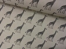 GIRAFFES +++ LINEN LOOK FABRIC by CHATHAM GLYNN
