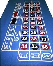 Blue Roulette Baize / Layout / Felt - Last Few - Clearout Price - Free P+P