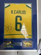 More details for roberto carlos signed brazil shirt 2002 world cup aftal coa led lights