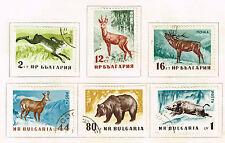 Bulgaria Fauna Wild animals set 1958
