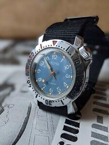 Gents Retro Vostok, Amphibian Diver Style, Soviet Watch - Working