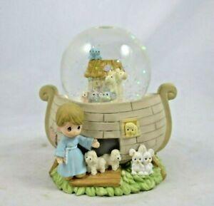 "Vintage Enesco Precious Moments Snow Globe Noahs Ark Miniature 2.5"" X 2"" X 3"""