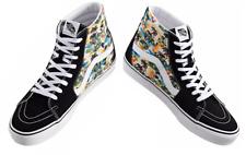 Vans Men's Sk8-Hi [Aloha] Canvas Suede Black Shoes Size 12 NIB New Fast