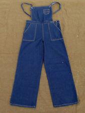 Women's Jeans Trousers Blue Denim Latzhose 40's vintage look Retro Marlene 34in