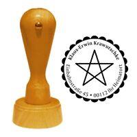 Stempel « PENTAGRAMM » Adressenstempel Motiv Name Symbol Magie Mystik Zauber