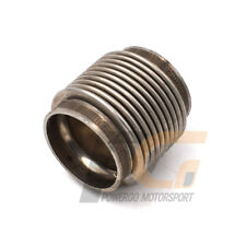 """Universal Stainless Steel Exhaust Flex Pipe 1.75"""" ID Ribbed Flex Section"""