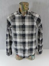 Topman Mens Shirt Black White Check Twin Breast Pockets M 100% Cotton Gents