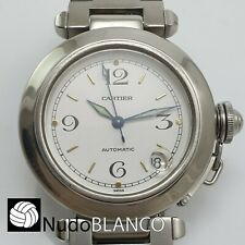 CARTIER LADY PASHA AUTOMATIC WRISTWATCH STAINLESS STEEL WITH CALENDAR REF. 2324