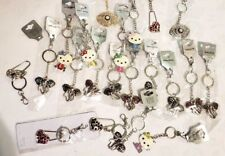 Assorted Rhinestone Charm Key Chain Assorted Colors Lot of 21 Keychains