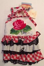 New listing Fioruccci Italy Dog Dress Nwt Red Rose Ruffles Up To 6.6 Lbs Designer Brand Love