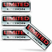 4 x 3D Gel Limited Edition Sticker Logo Domed Decal Badge Emblem Car JDM KS 132