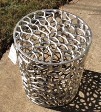 Metal Geometric End Table