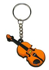 NEW Black rubber semiquaver music note keyring keychain with split ring