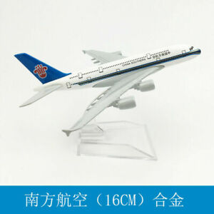 Aircraft Metal Diecast Model China Southern A380 Solid Passenger Airplane Plane