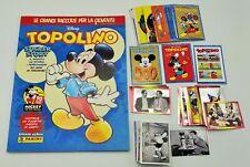 TOPOLINO STICKER STORY 2018 Panini Album + Set completo 276 figurine e 36 Cards