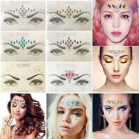 Glitter Jewel Adhesive Tattoo sticker Sticky Face Gems Body Party Wedding$