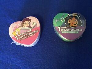 Disney Princesses Jasmine & Belle Magic Towel Washcloth Set of 2