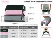 Booty Fabric Bands: Fabric Resistance Bands for Legs & Butt: 3PK And Durable NEW