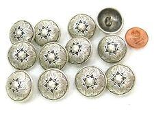 12 Stück  sehr schöne Knöpfe  Metallknöpfe altsilber 20mm K02