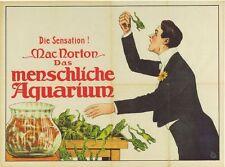 Poster Vintage Circo Freak Show macnorton la rana Regurgitator A3 reimpresión