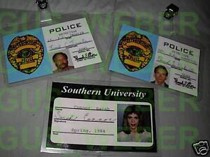 Terminator 1984 Sarah Connor Id and police prop Id's