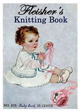 Fleisher's #105 c.1923 Knitting Patterns for Vintage Baby Fashions
