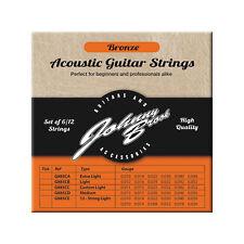 Johnny Brook High Quality Bronze Light Gauge Acoustic Guitar Strings -12 Pack