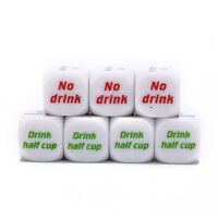 7pcs funny drink drinking sip dice roll decider die game party bar club pub HC