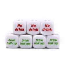 7pcs funny drink drinking sip dice roll decider die game party bar club pub H&CH