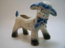 Vintage Baby Lamb Pottery Planter Blue Gift Nursery