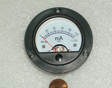 Analog Panel Meter Dc 0 100ma Ammeter Range 0 100ma Round Dh 52