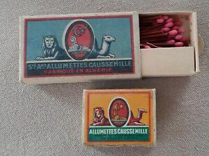 2 boites d'allumettes caussemille Algérie - années 1950