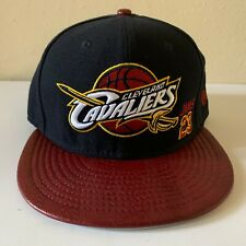 New Era NBA Cleveland CAVS Leather Snapback Hat Lebron James 23