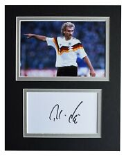 Rudi Voller Signed Autograph 10x8 photo mount display Germany Football AFTAL COA