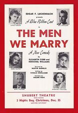 """Shirley Booth """"THE MEN WE MARRY"""" Margaret Hamilton 1947 FLOP Tryout Flyer"""
