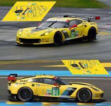 Decals Corvette C7R Le Mans 2015 1:32 1:24 1:43 1:18 C7 R Chevrolet slot calcas