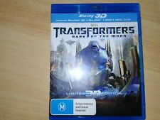 BLU-RAY TRANSFORMERS DARK OF THE MOON Limited 3D Edition  + Blue Ray