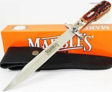 "Marbles 12"" Full Guard Jigged Stag Bone Hunter Hunting Bowie Knife + Sheath"