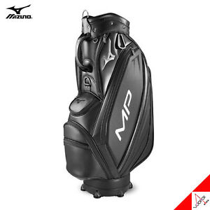 "Mizuno 2020 MP 001 Men Golf Cart Caddie Bag 9"" 8.2lbs 5Way PU Enamel-Black"