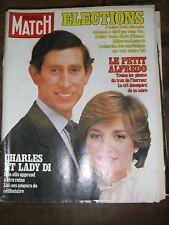 Paris Match N° 1674 26/6/1981 Charles et Lady Di Audrey Hepburn Michel Serrault