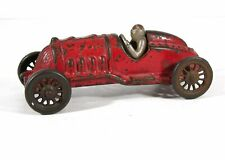 1920s CAST IRON BULLET RACER / RACE CAR TOY 1878 By HUBLEY IN ORIGINAL PAINT