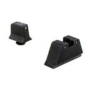 Trijicon Suppressor Black Outline Night Sight Set with Green Lamps for Glock Mod